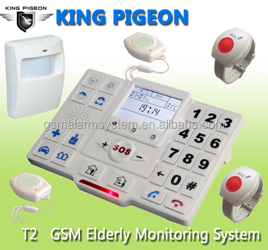 Wireless alarm with GPRS Contact ID,LCD keyboard wireless alarm system,wireless elderly home life monitor alarm.