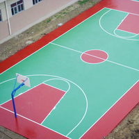 Antiskid Outdoor Basketball Court Acrylic Floor Paint