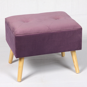 Modern short wooden leg shoes changing stool