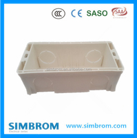 PVC switch boxes wall switch and socket junction box,plastic switch outlet box,grey
