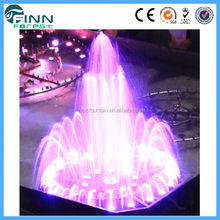 High Quality factory supply dancing water color changing fountain garden