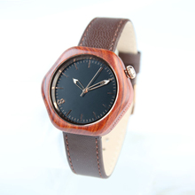New Arrival Fancy Cheap Genuine Leather Band Wooden Watch for Women