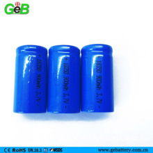 GEB rechargeable li-ion battery 18350 3.7v 900mAh