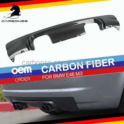 Carbon Fiber Rear Bumper Diffuser Lip Fit For BMW E46 M3 1998-2002