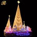 Outdoor lighted christmas tree display stand Fake christmas tree for outdoor
