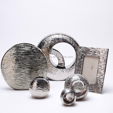 Modern gift silver plating china ceramic home decoration pieces luxury home decor vases