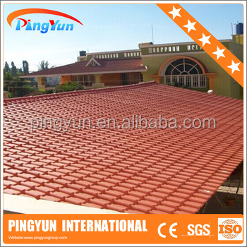 soundproof Roofing Materials/outdoor plastic roofing tiles/pvc house sheet