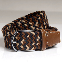 btb22855 Canvas Elastic Fabric Woven Stretch Multicolored Braided Belts