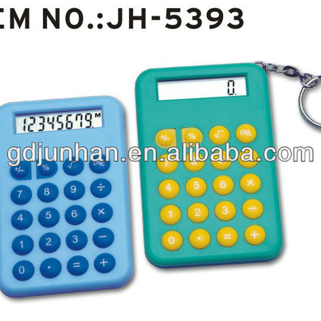 Promotional plastic gifts mini Calculator with keychain