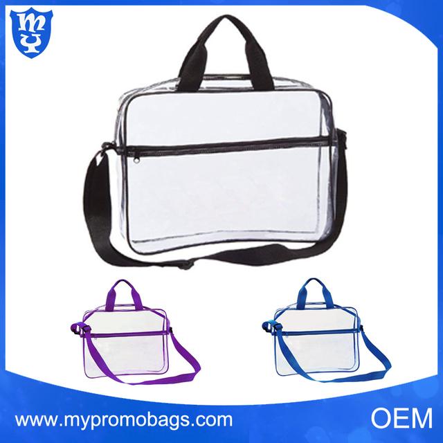 Fashion clear cross body messenger school bag popular shoulder bag transparent