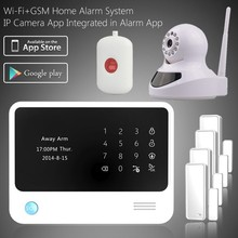 Live OLED display easy operation DIY home alarm system &fashion WiFi GSM alarm , intelligent wireless anti-burglar alarm system