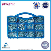 china supplier handy pack 529pcs galvanized standard size hex bolt and nut