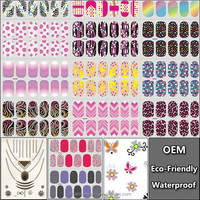 3D Flower Nail Art Stickers Decals For DIY UV Gel Polish Nail Tips Nail Sticker Black Floral Sweet Styling Decals Tool LAN001-20