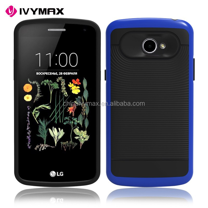 Factory price accessories brushed tpu+pc shockproof phone case for LG k5/Q6
