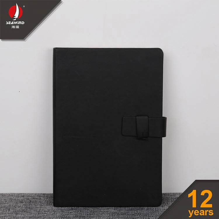 custom PU soft cover leather bound journals notebook With button closure