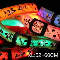Pet supplies Tactic traction small dog puppy LED light luminous dog collar XL