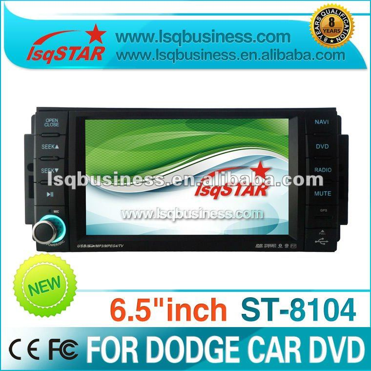 "LSQ Star 6.5"" LCD 2 Din TFT touch screen chrysler car dvd player gps also for Dodge,Jeep Commander with RADIO,RDS,TMC,IPOD,BT,CA"