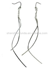 Tassel drop dangle earrings stainless steel allergy free for women jewellery