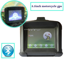 "3.5"" Motorcycle GPS Navigation MStar MSB2531 ARM Cortex-A7 CPU 1GHz Bicycle GPS with 8G Flash bluetooth free maps moto gps"
