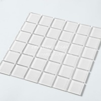 Elegant white glass mosaic tile for bathroom wall accessory