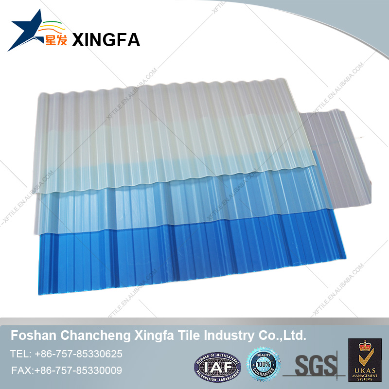container house excellent water resistant PVC transparent corrugated roofing sheets