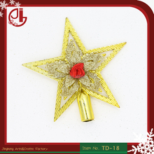 Cute Christmas Star Pendant Decor Festival Party Gift plastic Christmas Tree Topper Christmas Home Decoration