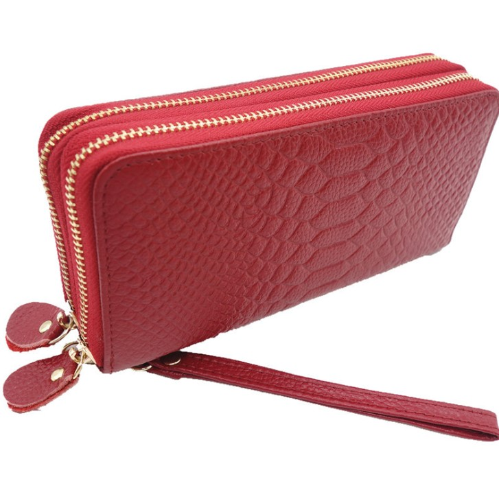 zm22229a European and American style women leather purse high quality ladies clutch purse