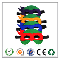 Good Quality 2016 High Quality Teenage Mutant Ninja Turtles Felt Mask For Kid's Party