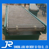 2015 China best quality stainless steel 304 turning mesh belt conveyor equipment