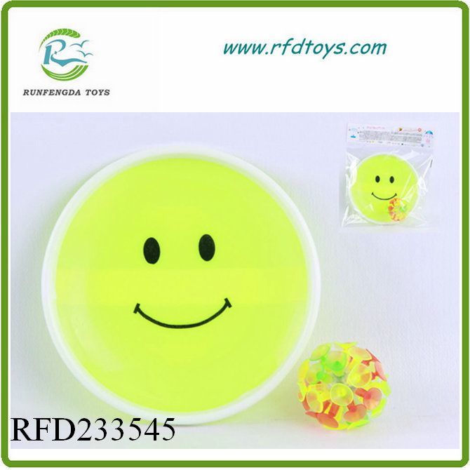 Flashing smiling face light suction ball