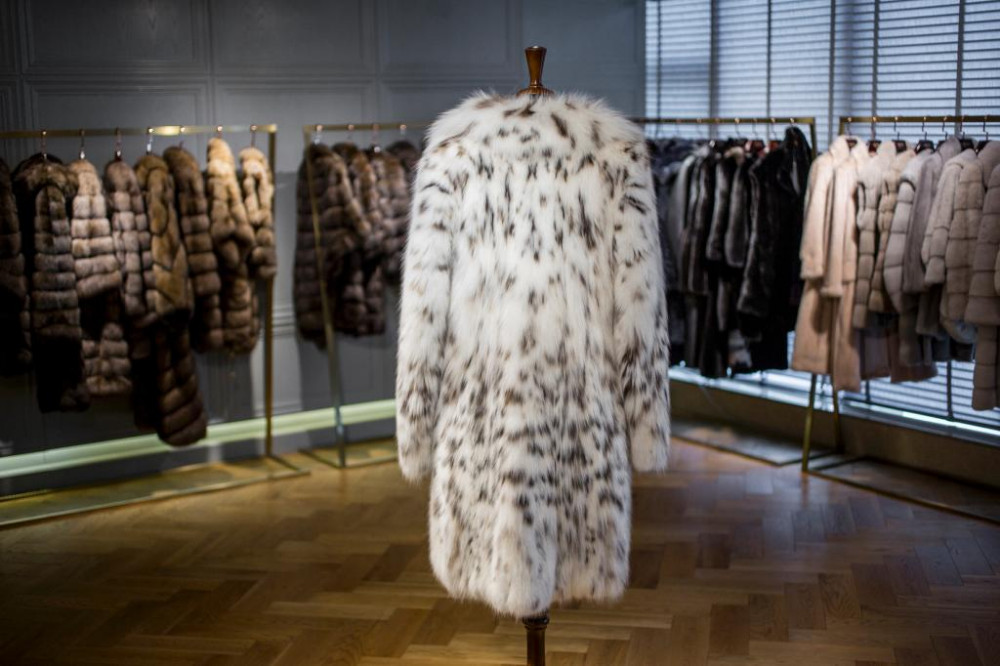 Womens Customise High Quality Lynx Fur Coat