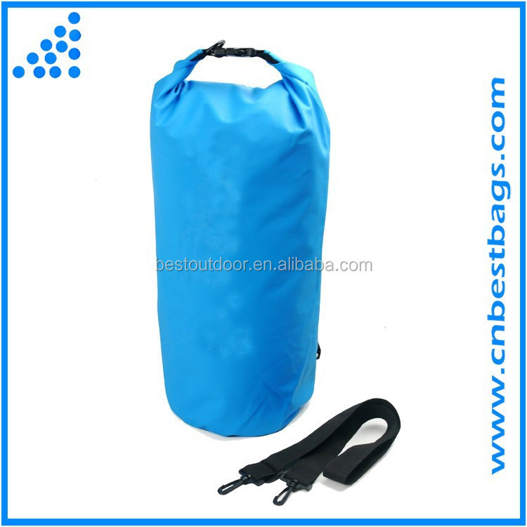 20L Blue Dry Bag, Waterproof Case Pouch Include Shoulder Strap