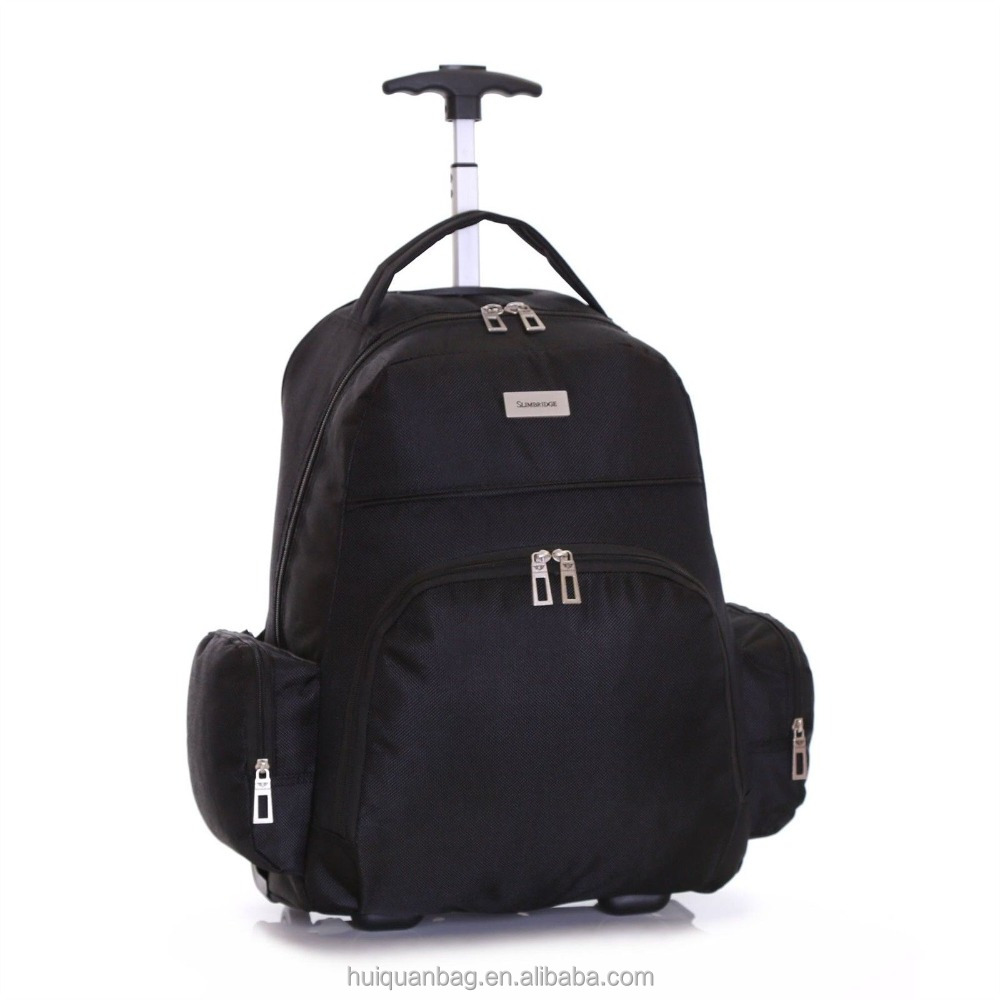 Wheeled Cabin Laptop Computer Suitcase trolley bag cover Hand Luggage Case Bag Backpack with laptop compartment wheels