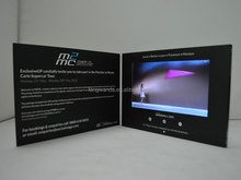 wholesale invitation lcd video greeting card for all Festival and party