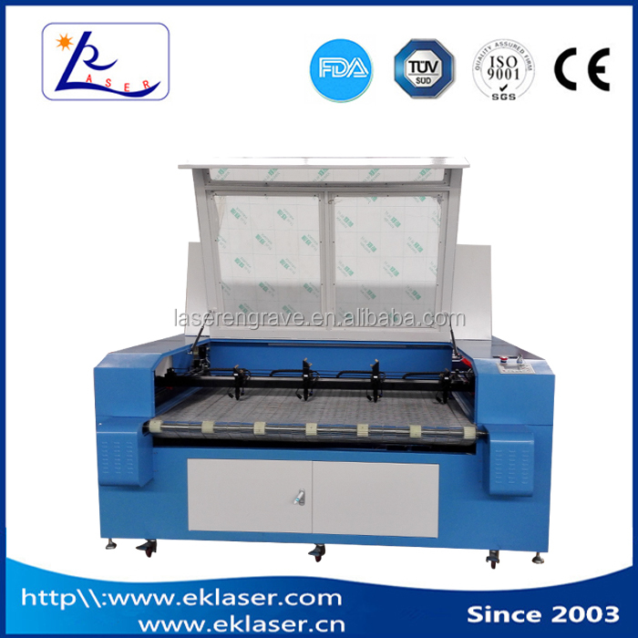 Advertising Flags Banner Laser Cutting Machine for fabric plastic film