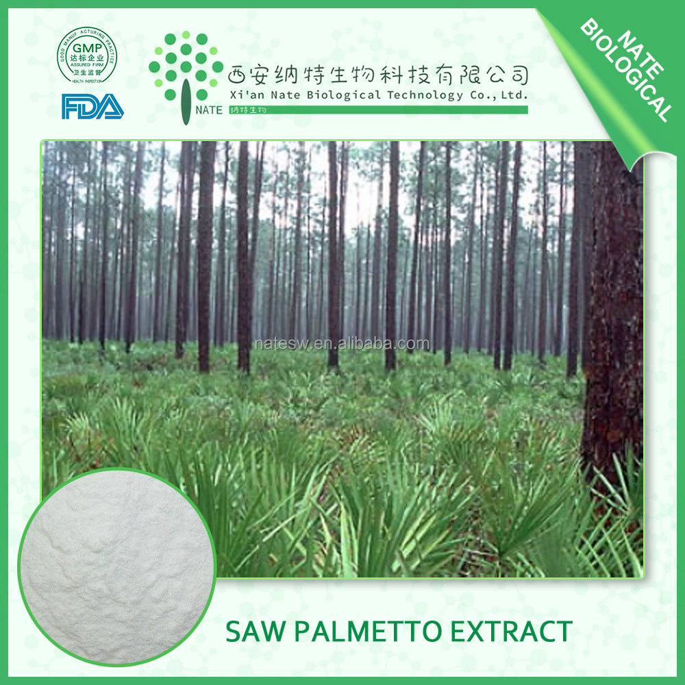 HIGH quality Saw palmetto fruit extract fatty acids 30% free sample