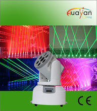 led laser moving head lights 6*10W RGBW LEDS with 1pcs 50mW green laser