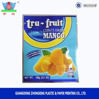 Matt Finished Plastic dry fruit packaging design organic food packaging