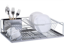 single tier stainless steel dish rack with tray and cutlery holder XY-A1150