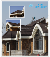roofing system materials galvanized flatsheet sand coated metal tiles prices