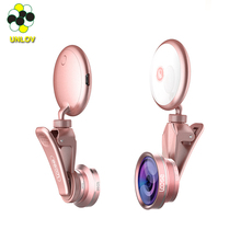 360 degree adjustable mobile phone lens phone camera lens selfie ring light with led usb chargeable