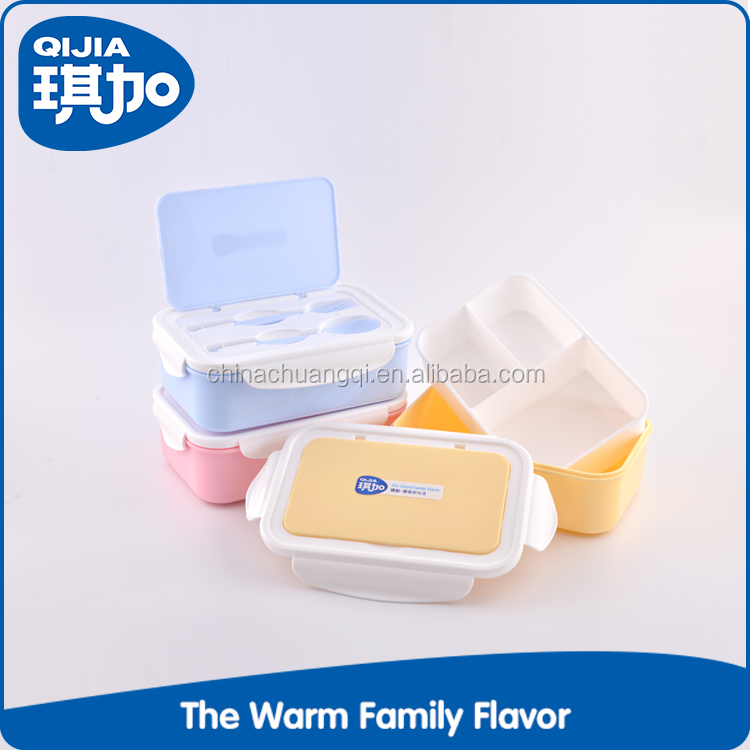 Children food containers 3 compartment eco friendly lunch box