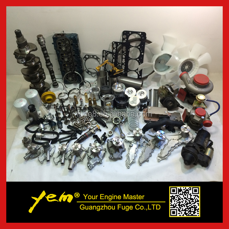 Kubota diesel engine spare parts for excavater