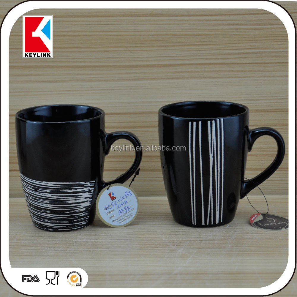 popular promotion gift mug stoneware milk tea cup wholesale ceramic matte black coffee cup and mug