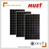 MUST 5W 10W 15W 20W 30w 50w 85w 100w 250w Mono solar panel price for solar panel system