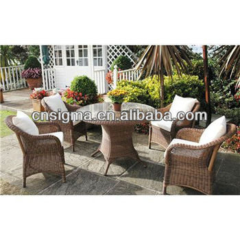 2014 New and Lovely Outdoor Furniture Honey 4 Seater Rattan Dining Set