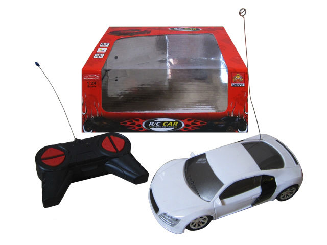 Popular plastic toy 1:24 4ch rc mustang toy car with light