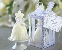 Wholesale wedding dress candle Wedding decoration wedding candle Wedding Gown Bridal candle return small gift for guests