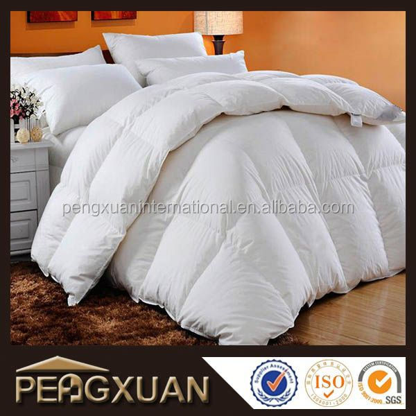 Factory custom best quality hotel down king size comforters for adults