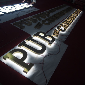 Custom Led Backlit Stainless Steel Signs Channel Letters